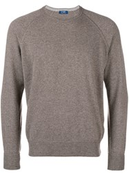 Barba Loose Fitted Sweater Brown