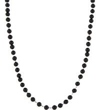 Black Dakini Cuban Link Agate Beaded Necklace Slvr Blk