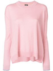 Paul Smith Ps By Long Sleeved Knitted Sweater Women Wool M Pink Purple