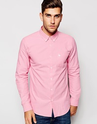 Jack Wills Shirt In Pink Oxford