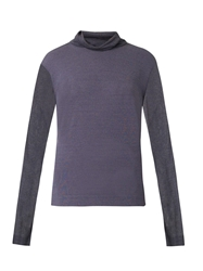 Dion Lee Roll Neck Sheer Knit Sweater