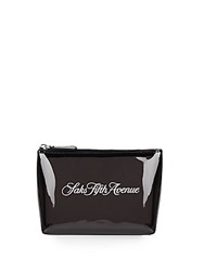 Saks Fifth Avenue Signature Zip Pouch Black