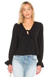 Line And Dot Leyla Blouse Black