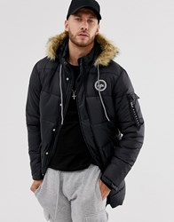 Hype Explorer Hooded Parka Jacket Black
