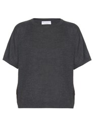 Brunello Cucinelli Wool And Cashmere Blend Top Dark Grey