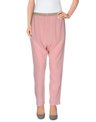 Erika Cavallini Semi Couture Erika Cavallini Semicouture Trousers Casual Trousers Women Pastel Pink