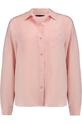 Marc By Marc Jacobs Bmx Brushed Silk Shirt Pink