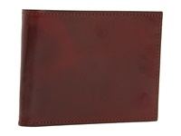 Bosca Old Leather Collection Double Id Credit Wallet Cognac Leather Bi Fold Wallet Brown