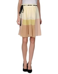 Aquilano Rimondi Knee Length Skirts Ivory
