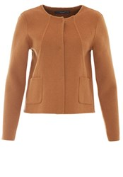 Hallhuber Wool Crop Jacket Brown