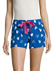 Lord And Taylor Scribble Heart Sleep Shorts