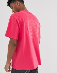 Element Primo Icon T Shirt In Pink