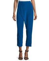 Cnc Costume National Wrap Front Cropped Pants Blue Women's