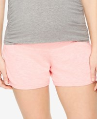 Motherhood Maternity French Terry Shorts Coral
