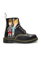 Dr. Martens Pascal 8 Eye Beavis And Butthead Boots Black And White