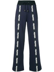 Mr And Mrs Italy Logo Tape Track Pants Blue
