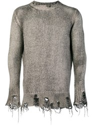 Avant Toi Fisherman Knit Sweater Nude And Neutrals