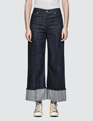 J.W.Anderson Jw Anderson Turn Up Cuff Straight Leg Jeans Blue