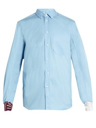 Oamc Long Sleeved Cotton Shirt Light Blue
