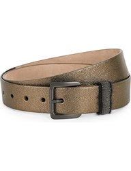 Brunello Cucinelli Military Buckle Leather Belt Military Green