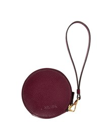 Jaeger Leather Coin Purse Keyring Red
