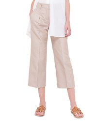 Akris Mira Pleated Wide Leg Pants Rose Des Sables