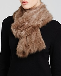 Maximilian Knitted Sable Scarf Uptone