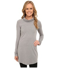 Lole Principle Tunic Meteor Heather Women's Long Sleeve Pullover Gray