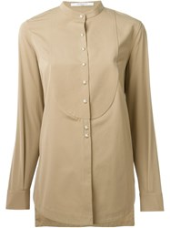 Givenchy Band Collar Shirt Nude And Neutrals