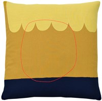 K Studio Sunset Abstraction Pillow Yellow