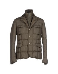 Manuel Ritz White Down Jackets Military Green