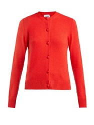 Barrie Arran Pop Cashmere Cardigan Red