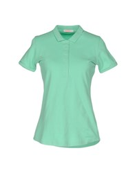 Sun 68 Polo Shirts Light Green