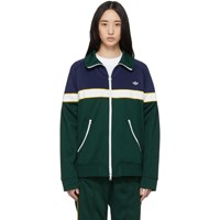 Adidas Originals Green And Blue Samstag Track Sweater