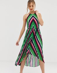 4680ff520 Ted Baker Shannah Pleated Maxi Dress In Stripe Multi