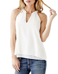 Guess Trapeze Two Tier Tank White