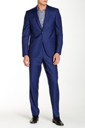 David Donahue 'Ryan' Classic Fit Wool Suit Blue