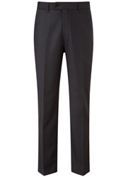 Austin Reed Classic Fit Gabardine Suit Trousers Charcoal