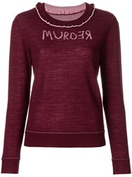 Undercover Murder Jumper Pink And Purple