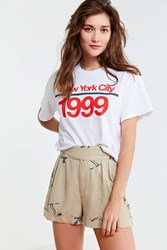 Urban Outfitters Uo Joanie Buckle Palm Short Neutral Multi