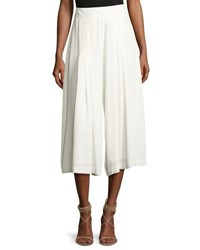 1.State Pleated Crepe Culotte Pants White