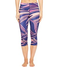 Cw X 3 4 Stabilyx Tights Print Purple Lava Print Women's Workout Multi