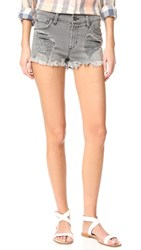 James Jeans Relaxed Fit Cut Off Shorts Smoke