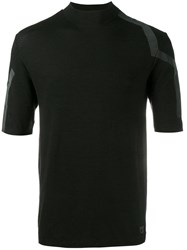 Y3 Sport Stripe Detail T Shirt Black