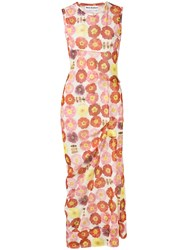 Molly Goddard Floral Print Dress Pink