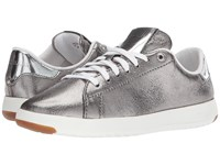 Cole Haan Grandpro Tennis Anthracite Glitter Metallic Gunmetal Optic White Lace Up Casual Shoes Silver