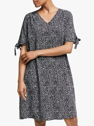 John Lewis Collection Weekend By Leopard Print Smock Dress Black White