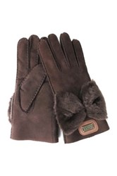 Australia Luxe Collective Bowie Genuine Shearling Gloves Brown