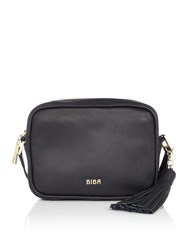 Biba Mini Frances Crossbody Leather Bag Black