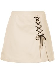 Guild Prime Lace Up Mini Skirt Brown